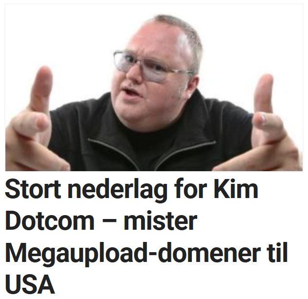 Nederlag for Kim Dotcom.