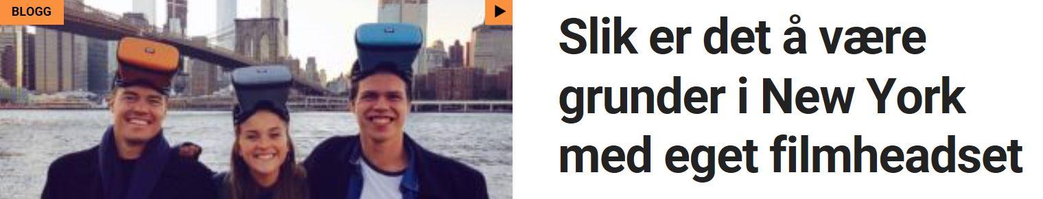 Slik er det å være gründer i New York med eget filmheadset