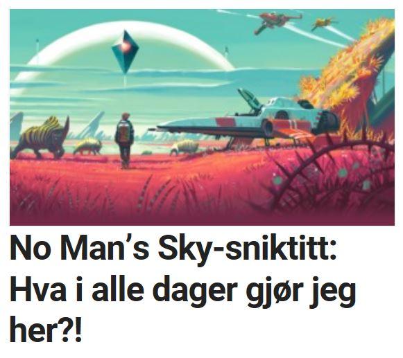 Les vår sniktitt på No Man's Sky.