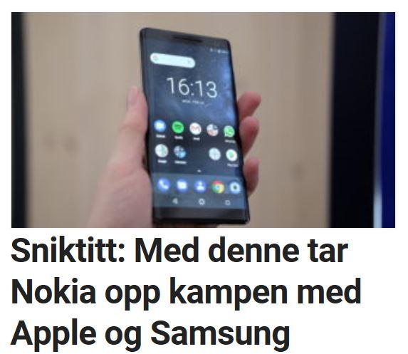 Les vår sniktitt på lekre Nokia 8 Sirocco.