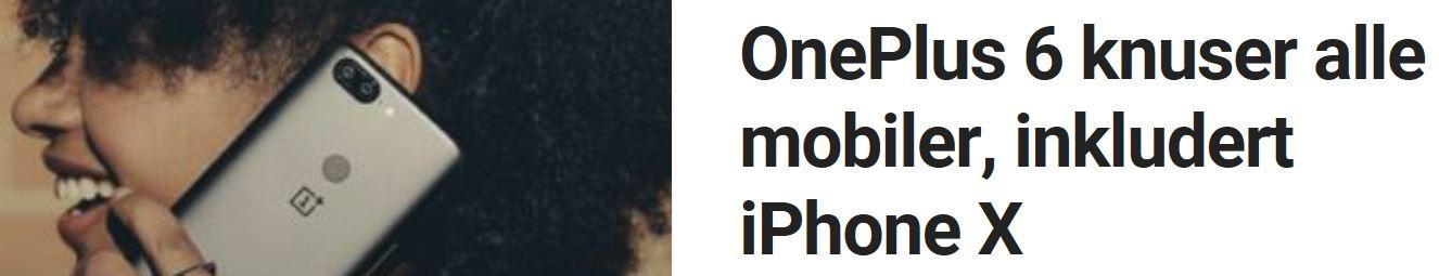 OnePlus 6 er godt optimalisert.