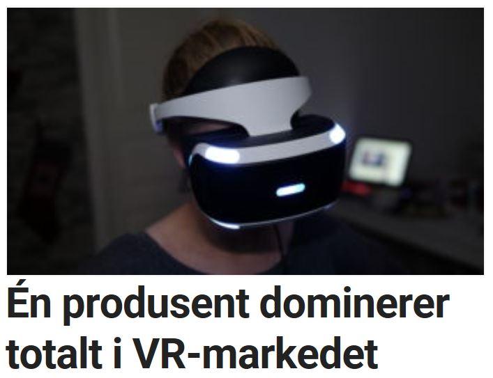 Én produsent dominerer totalt i VR-markedet