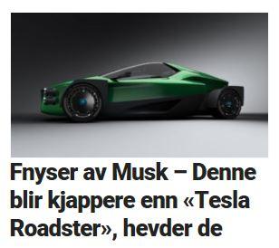 Denne hyperbilen har planer om å kjøre fra Tesla Roadster.