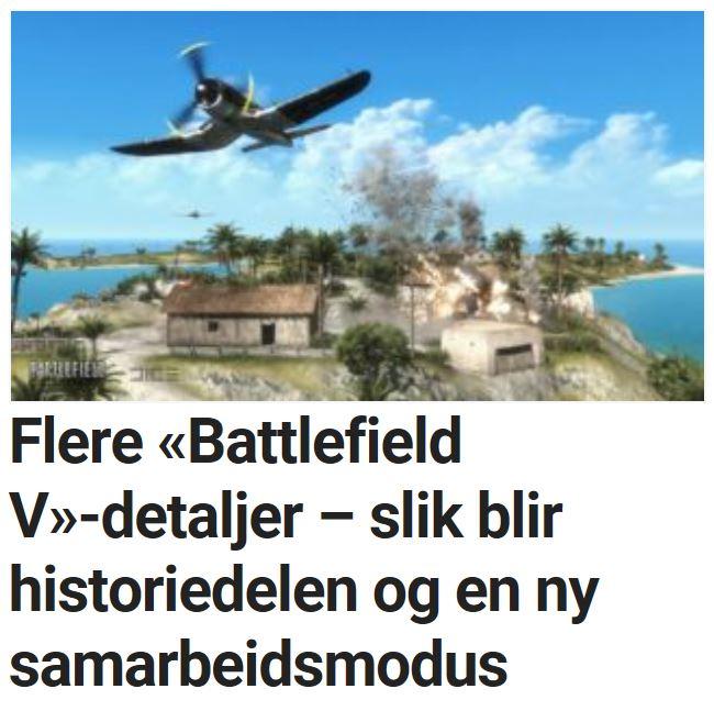 Flere «Battlefield V»-detaljer – slik blir historiedelen og en ny samarbeidsmodus.