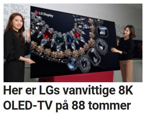 Her er LGs vanvittige 8K OLED-TV på 88 tommer.