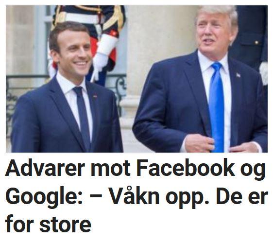 Advarer mot Facebook og Google: – Våkn opp. De er for store.