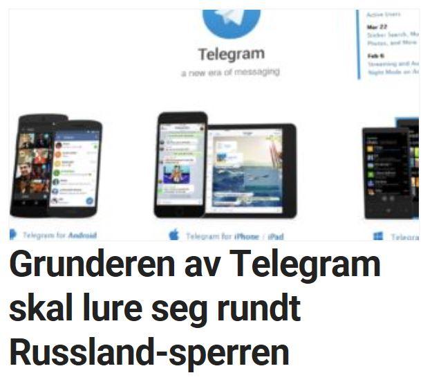 Grunderen av Telegram skal lure seg rundt Russland-sperren.