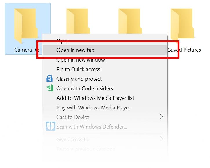 Se hvordan du kan åpne mapper nå.