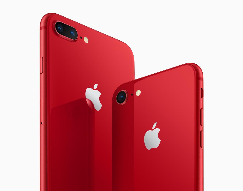Apple lanserer nye iPhoner i Product Red-serien.