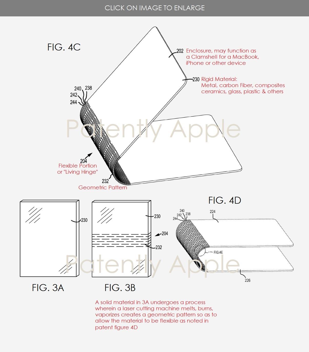 Apple prøver seg nok frem med en rekke materialer, blant annet karbonfiber.