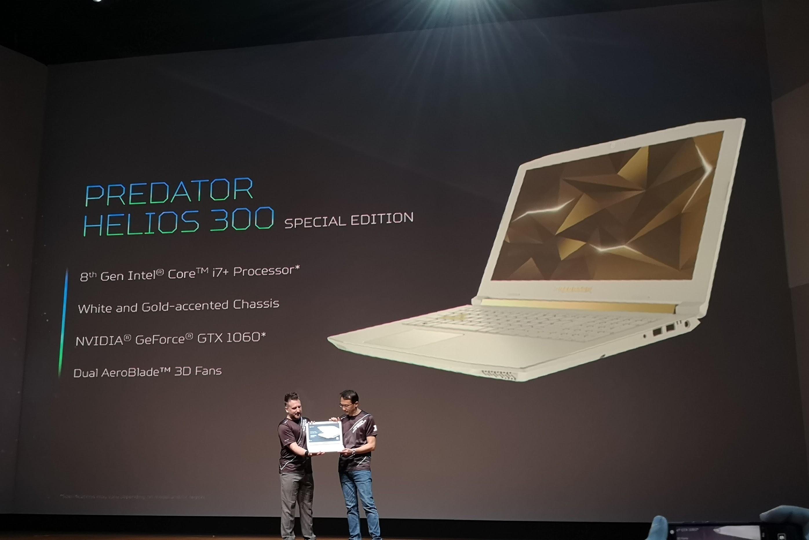 Acer oppgraderer sine Helios 300-PC-er.