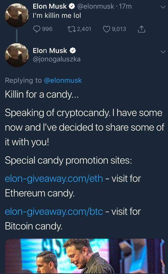 Elon Musk holder som regel til i California, noe som får oss til å lure på om ikke alle tweetene om godteri ble skrevet av noen andre grunnet tidssone-forskjellen.