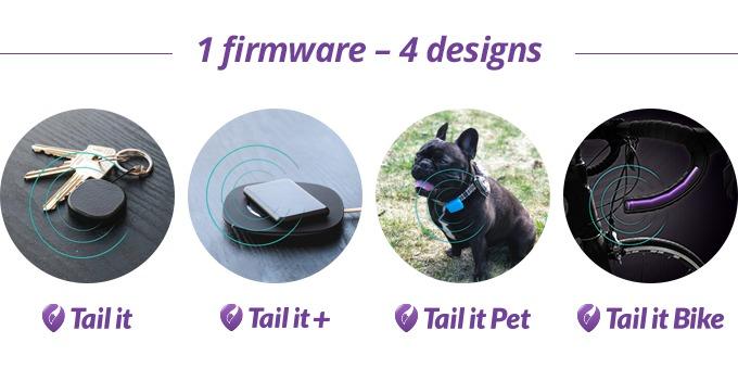 Tail it kommer i fire forskjellige utforminger.
