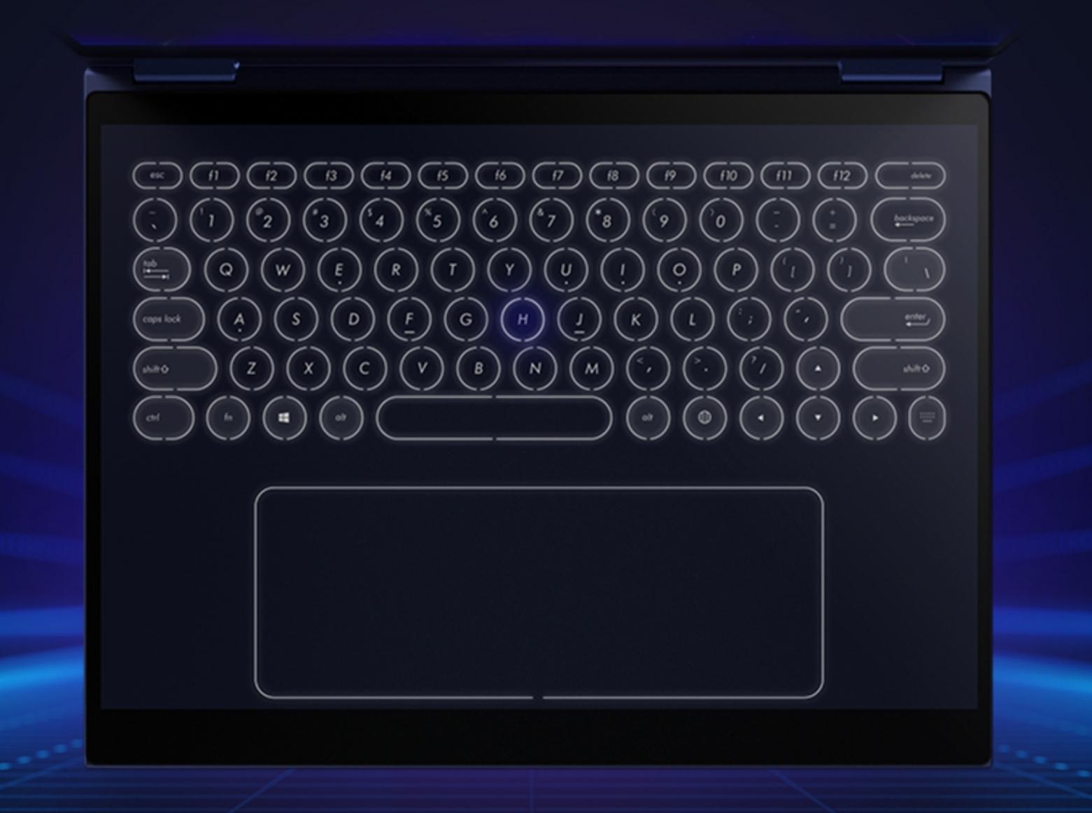 Tastaturet former seg etter deg.