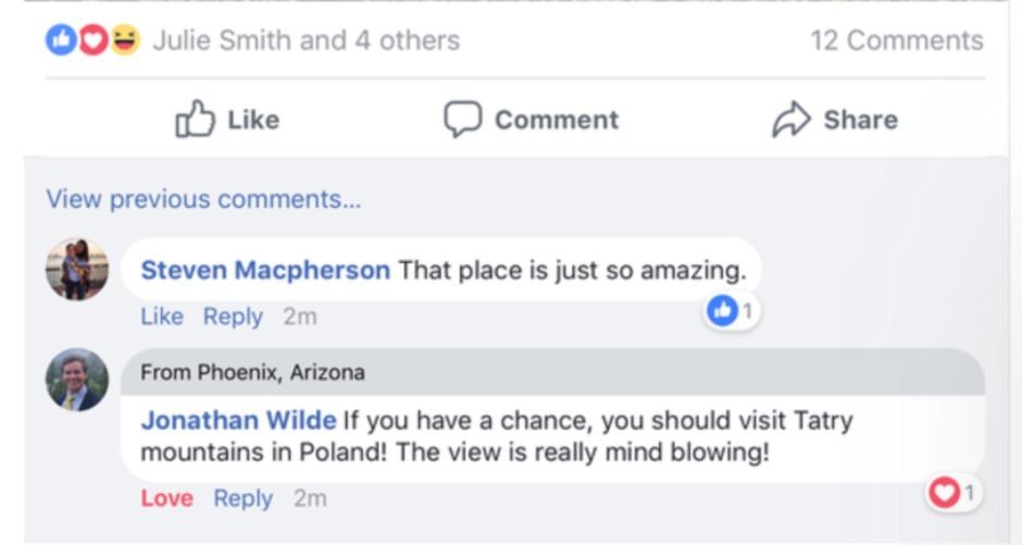 Slik fungerer ting til felles. Begge brukerne er fra Phoenix i Arizona..