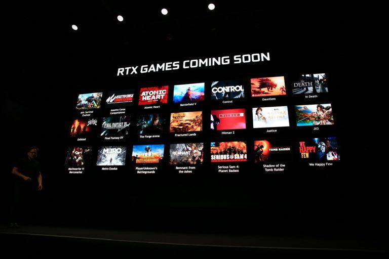 Disse spillene drar nytte av RTX-teknologien til Nvidia.