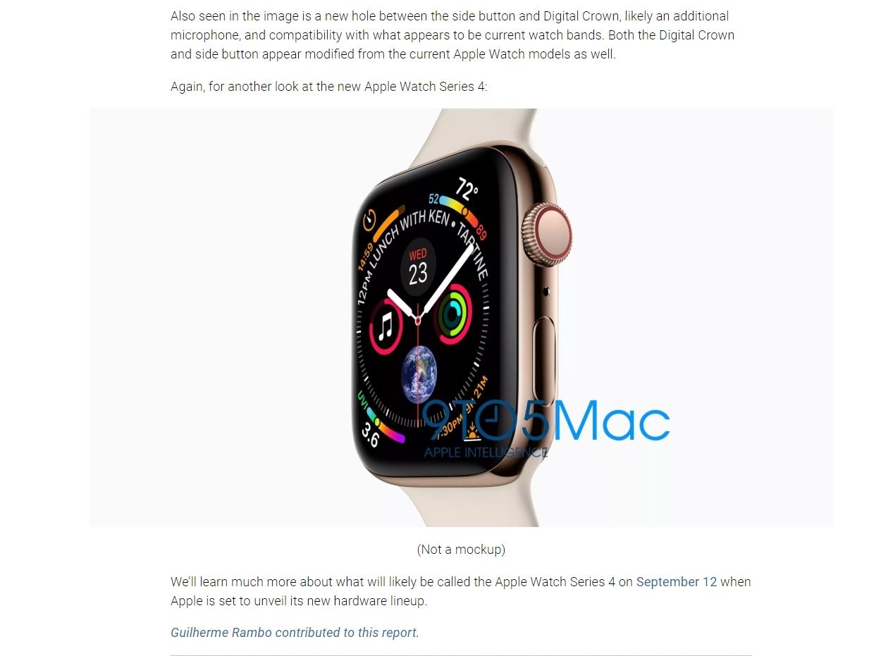 Dette er nye Apple Watch. Den skal visstnok vises frem 12. september som de nye iPhone-modellene.