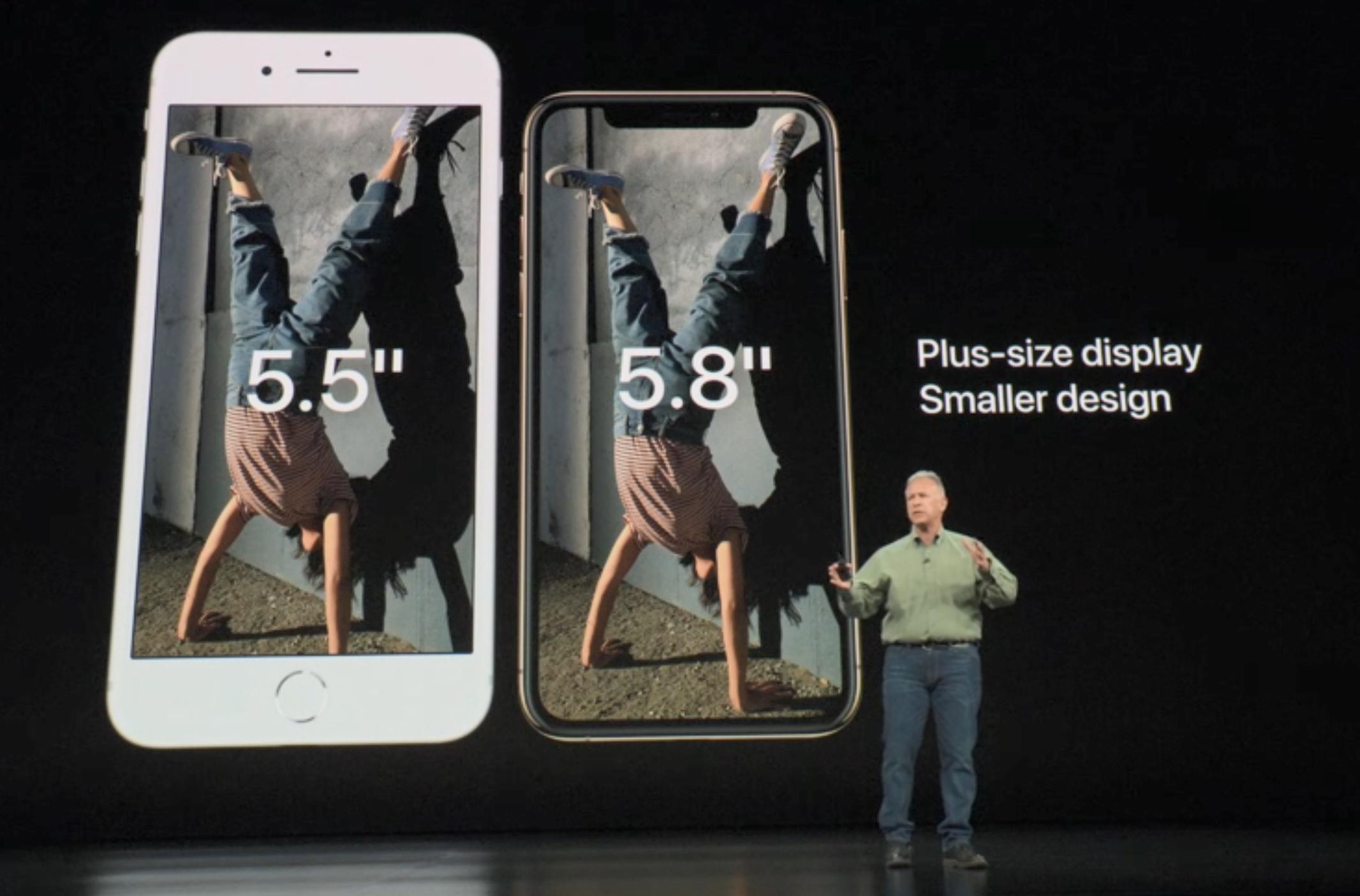 iPhone 8 mot nye XS.