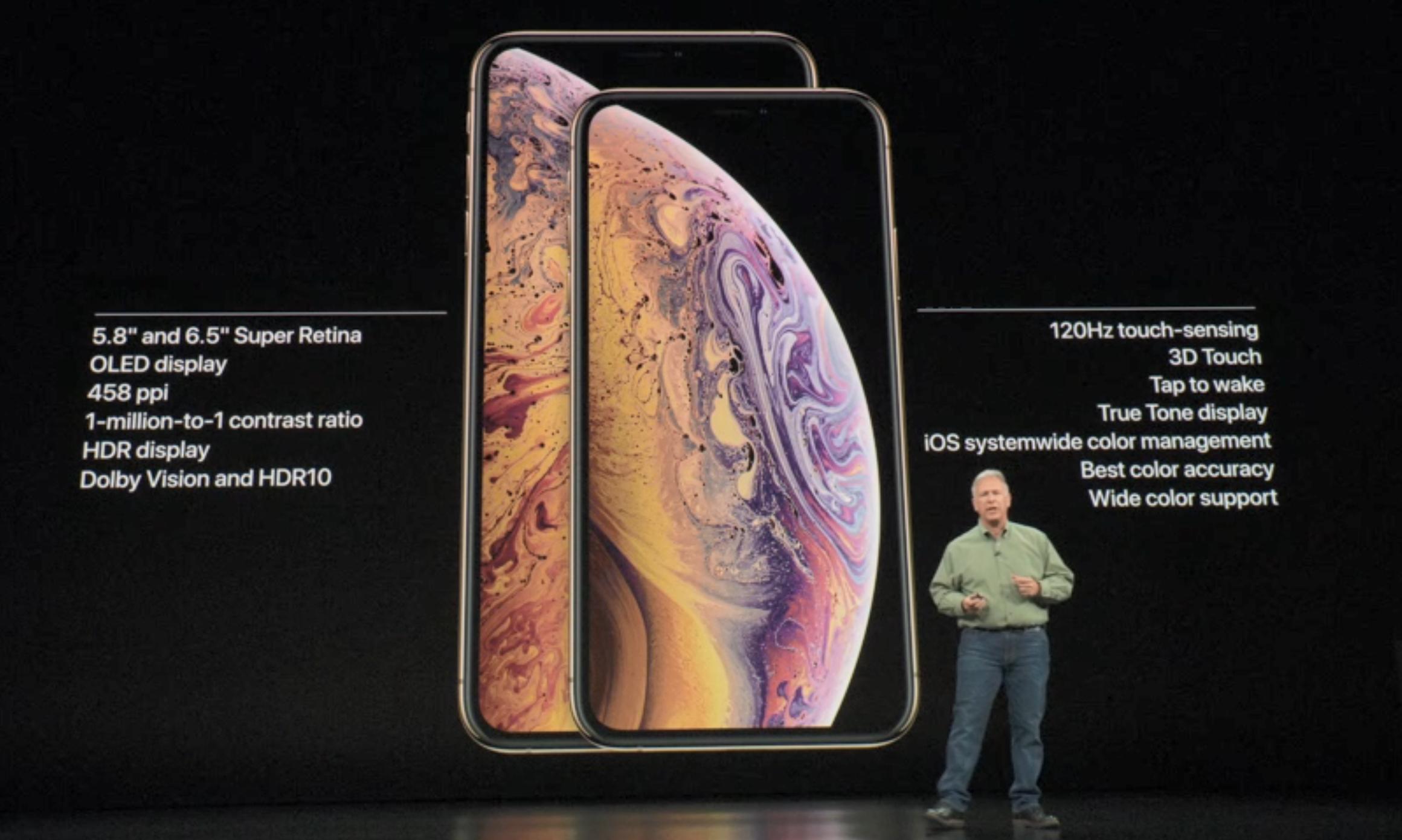 iPhone XS og XS Max har 120hz-paneler som iPad Pro.