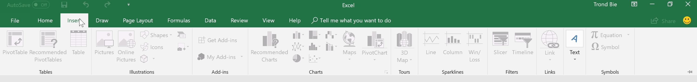 Excel og Word serverer fremdeles et stort grensesnitt om man trykker på noe på øverste rad.