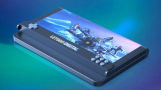 Samsung har registrert et patent med en foldbar telefon som har egne knapper for gaming.