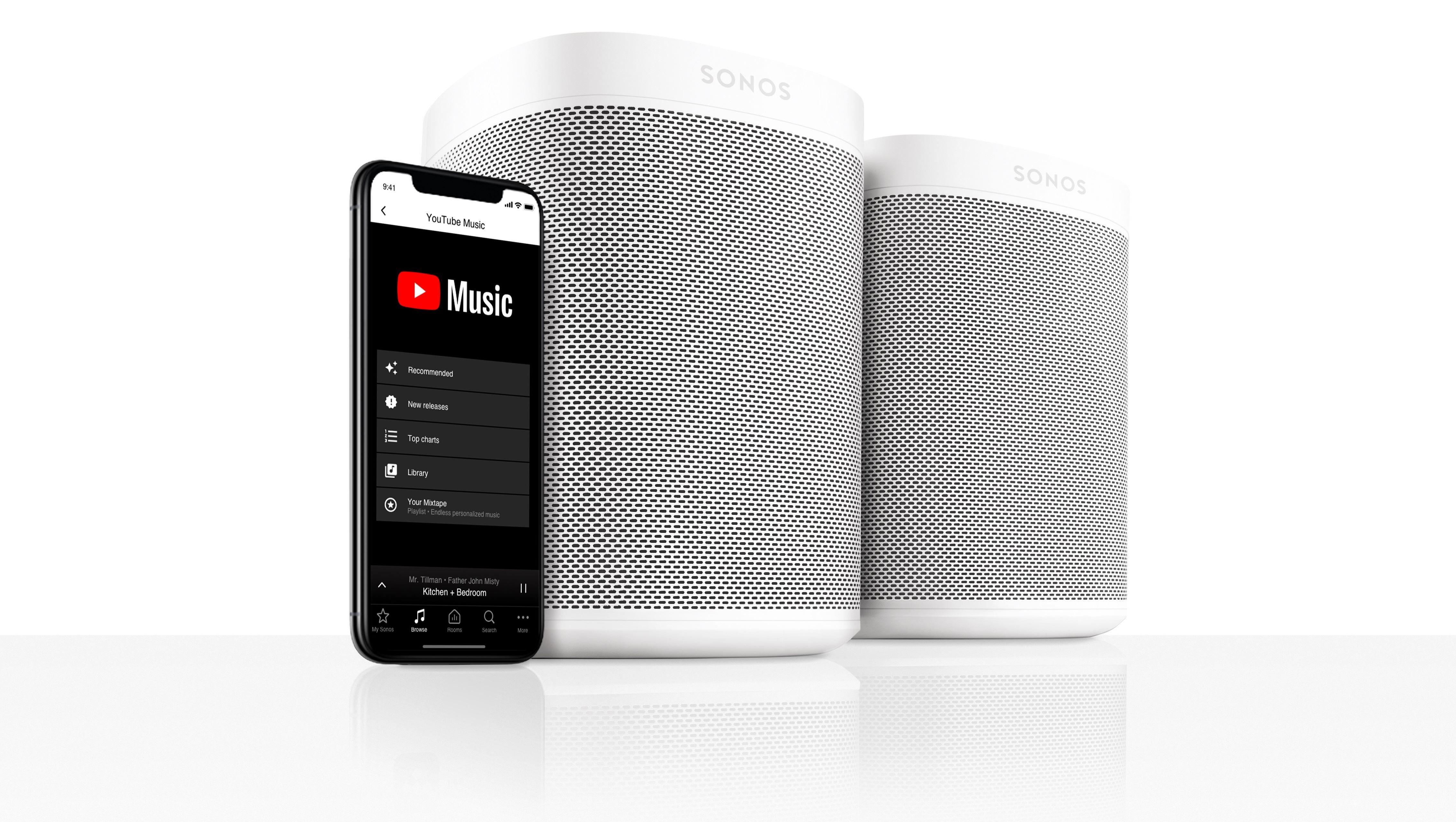 YouTube Music kommer til Sonos