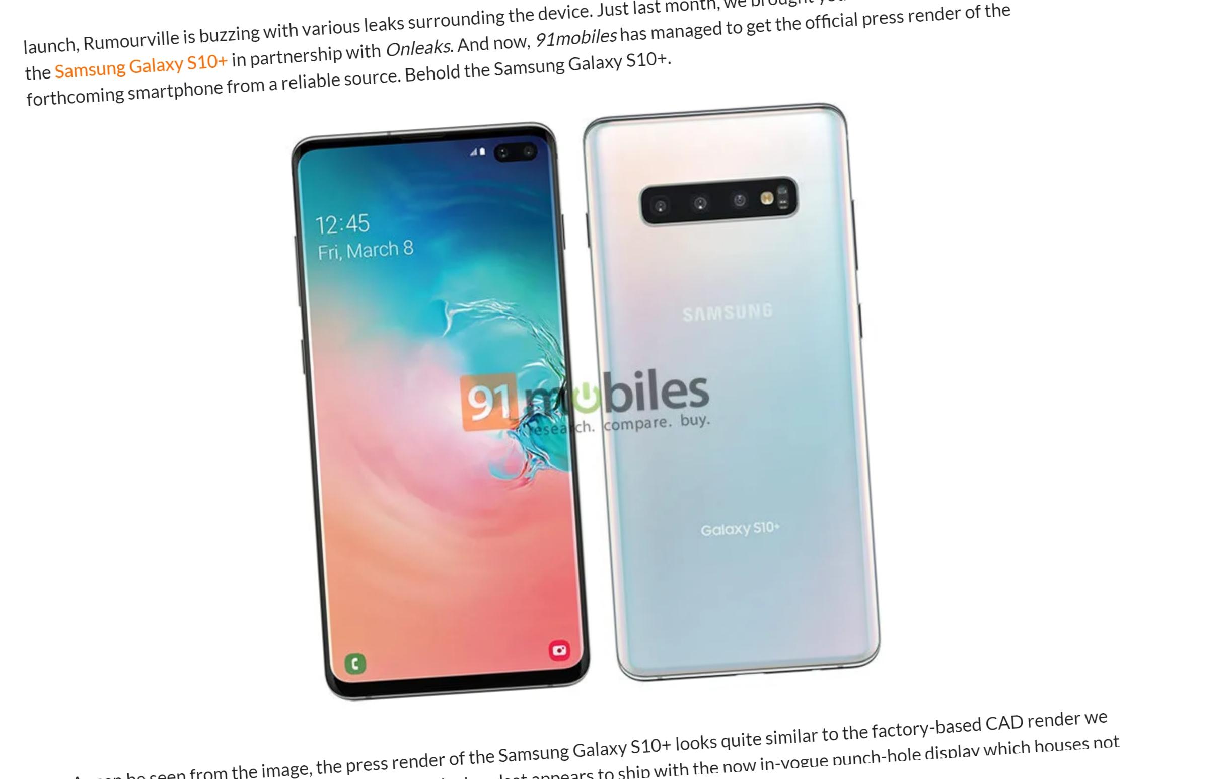 Skal du handle S10? Dette er det offisielle bildet fra Samsung