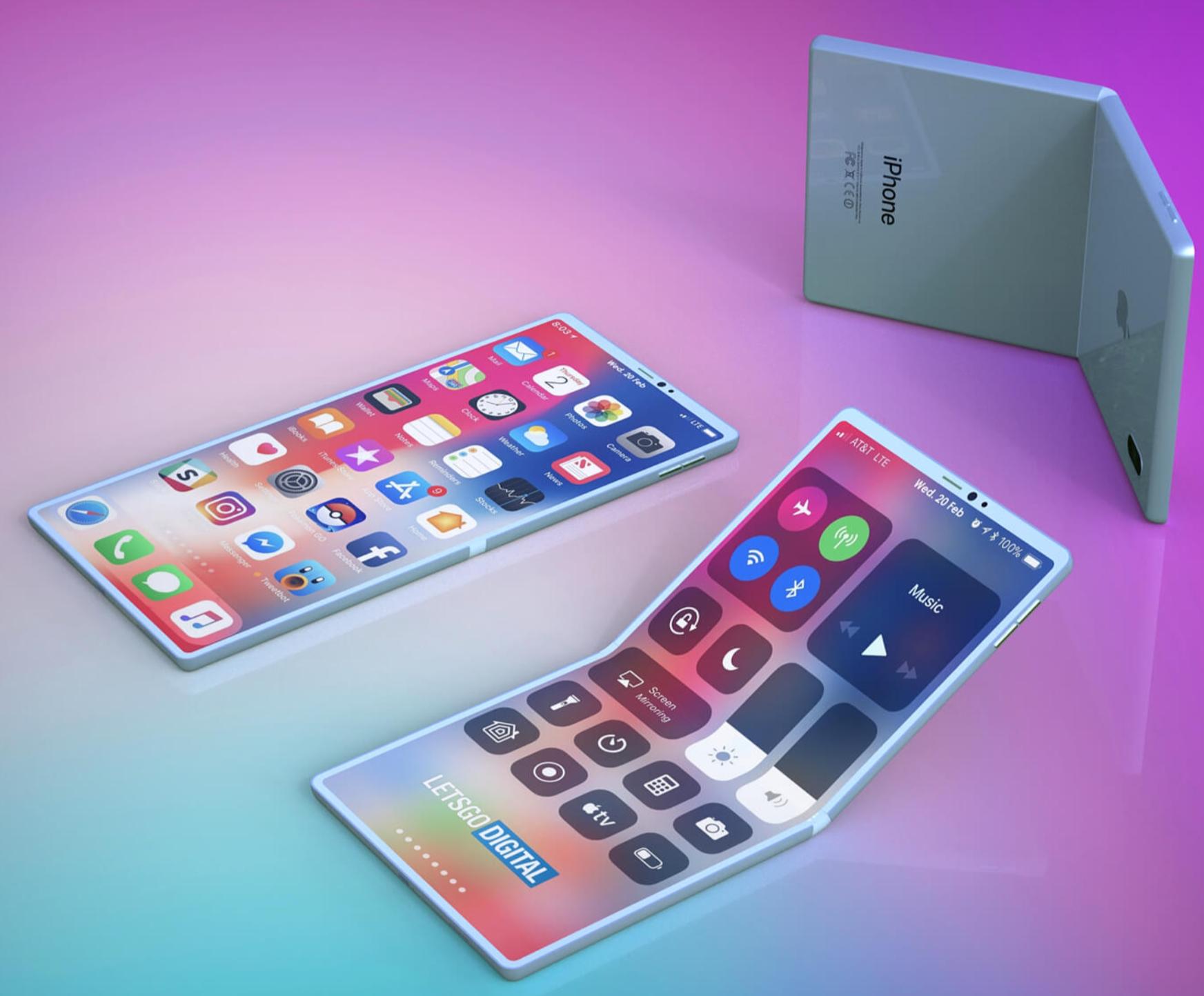 Hvor mange år tror en slik iPhone er unna markedet? Apple blir neppe først med et slikt design, akkurat som de ikke blir først med 5G.