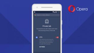 Nu ruller Opera snart ut innebygget VPN i mobilutgaven av nettleseren deres.