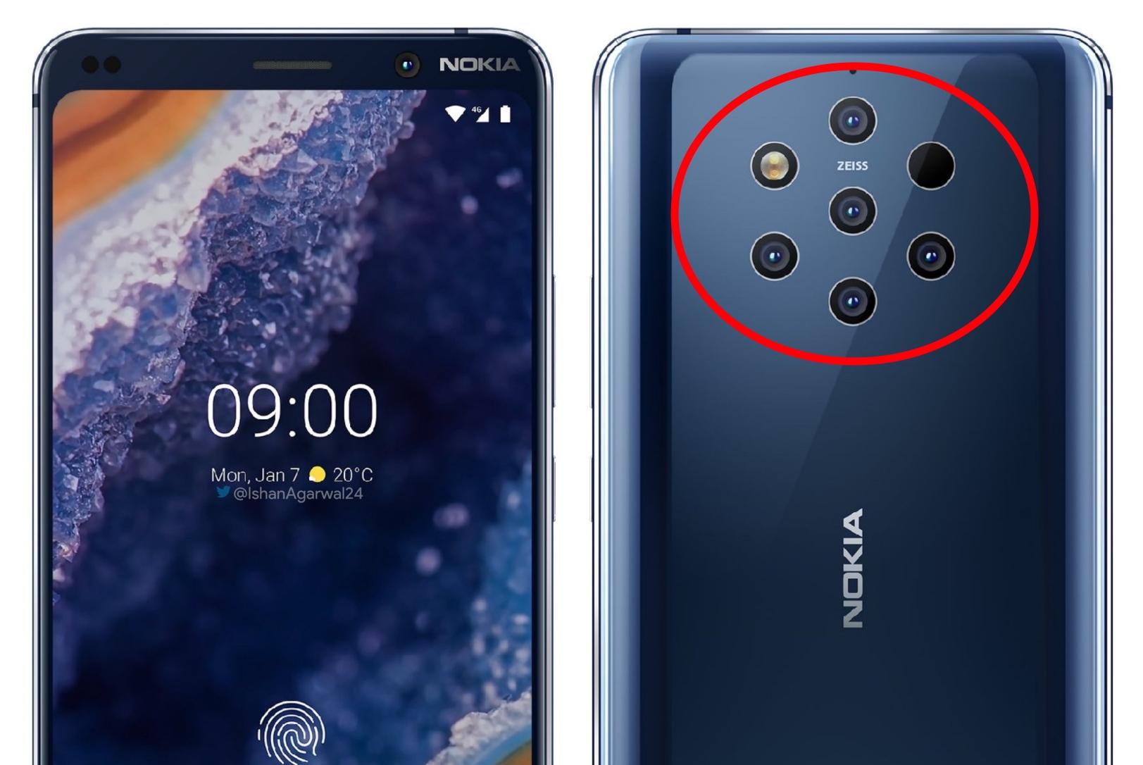 Sjekk ut hva galningene hos Nokia skal lansere: Nokia 9 PureView med fem kameraer!