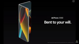 Konseptet er laget av ConceptsiPhone og viser en svært elegant iPhone i foldbar-format.