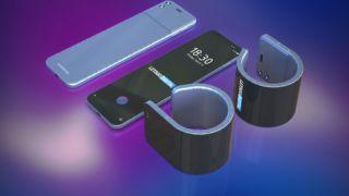 Nå kommer Samsung-mobilen du kan brette rundt armen