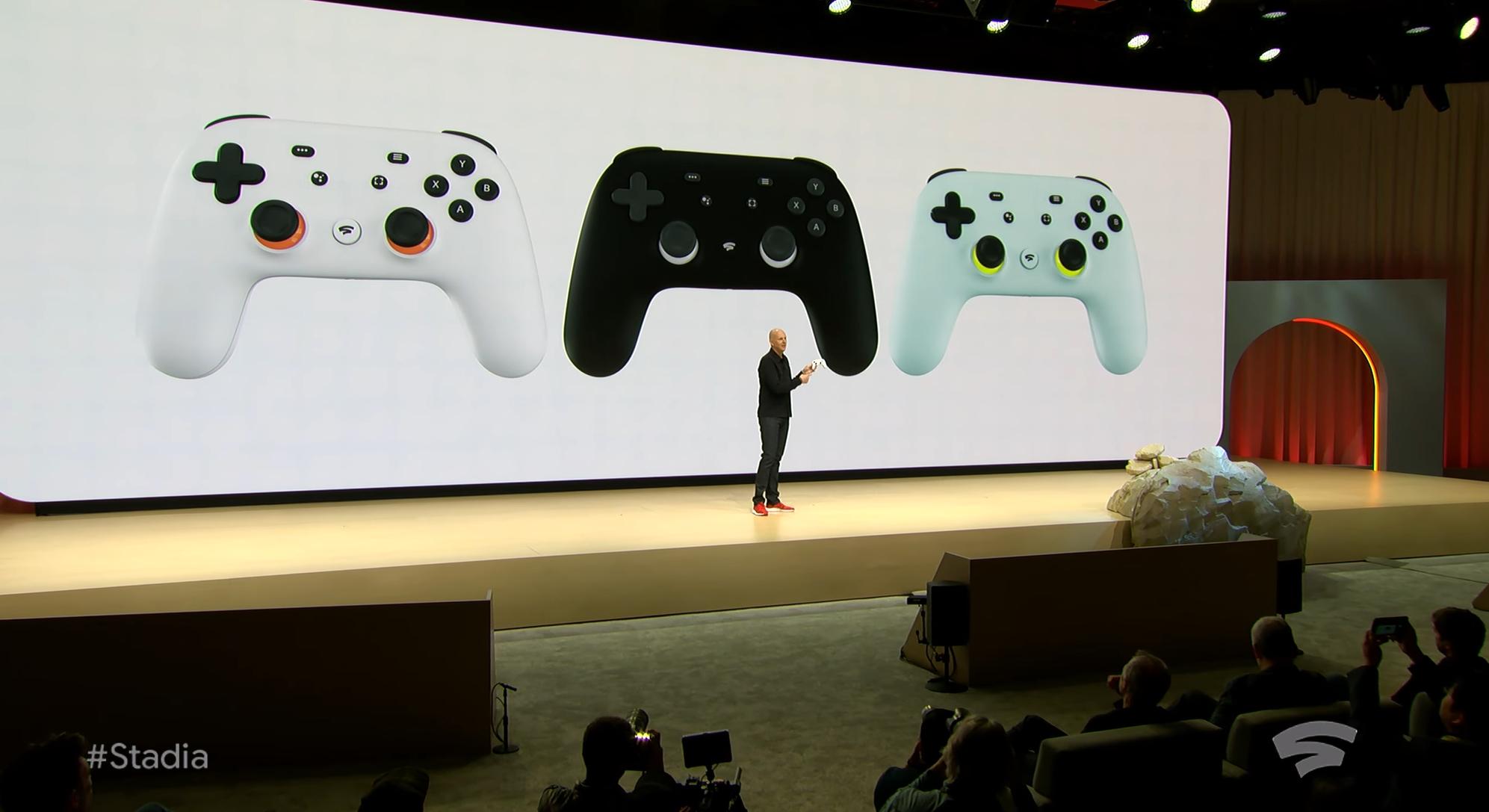 Stadia-kontrolleren kobler seg direkte til Googles spill-tjeneste, Stadia. via WiFi.