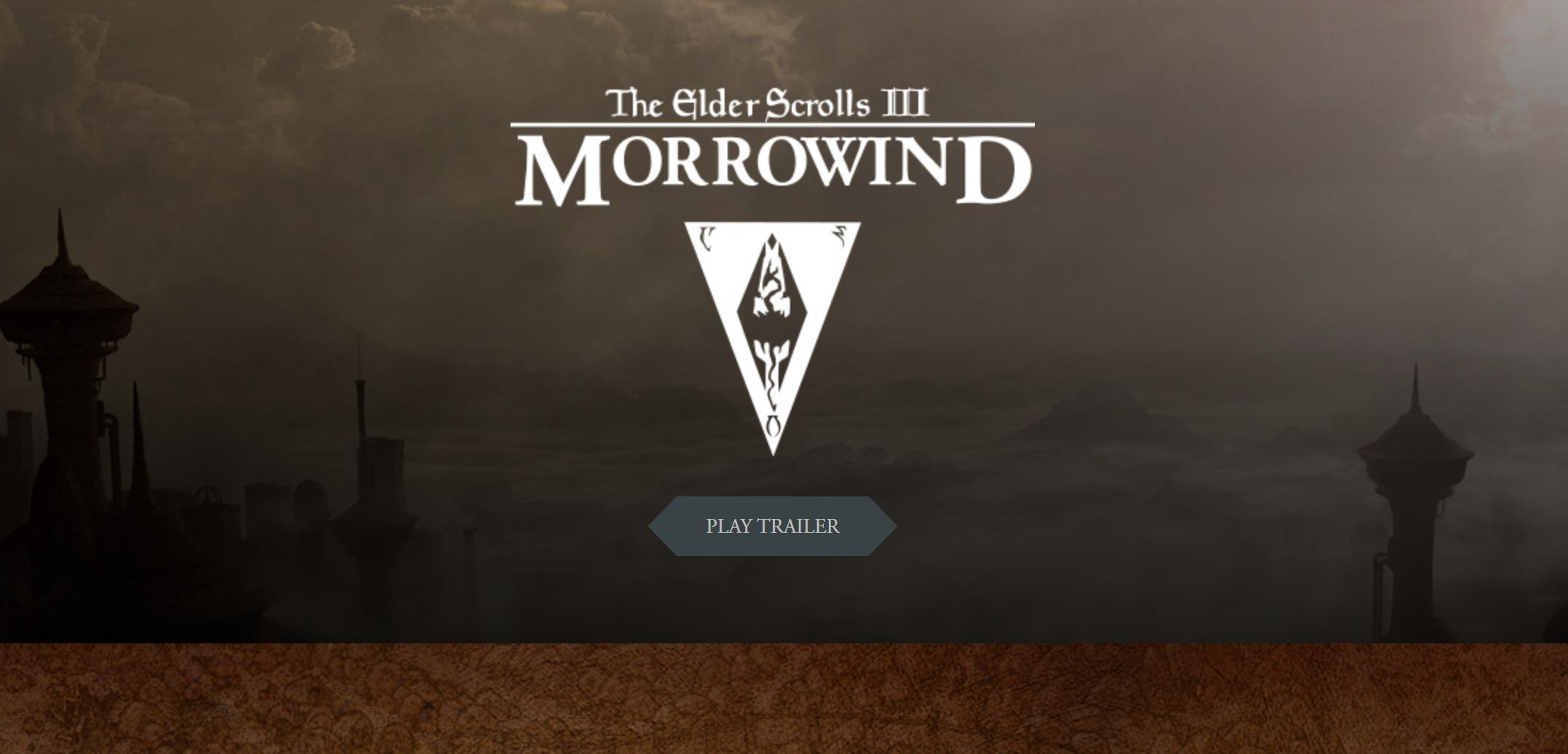 GRATIS KUN I DAG: The Elder Scrolls III: Morrowind