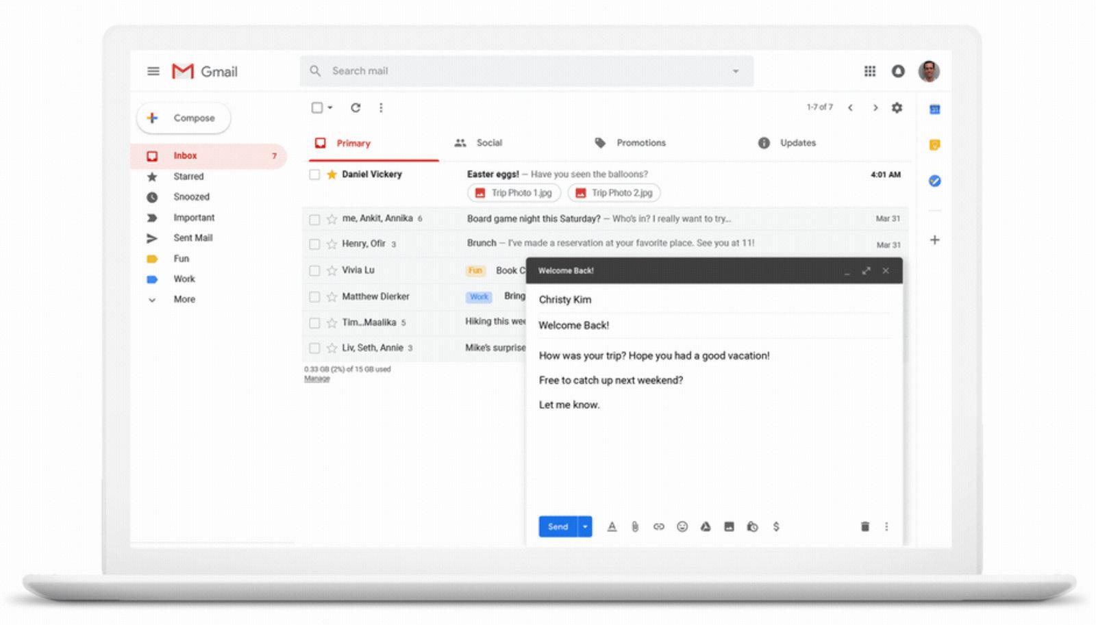 På 15-årsdagen får Gmail noen nyttige funksjoner.