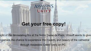 I solidaritet med Notre Dame-brannen, gir Ubisoft bort Unity.