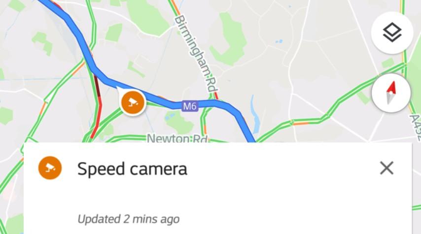 fartskontroller i Google Maps eksempel