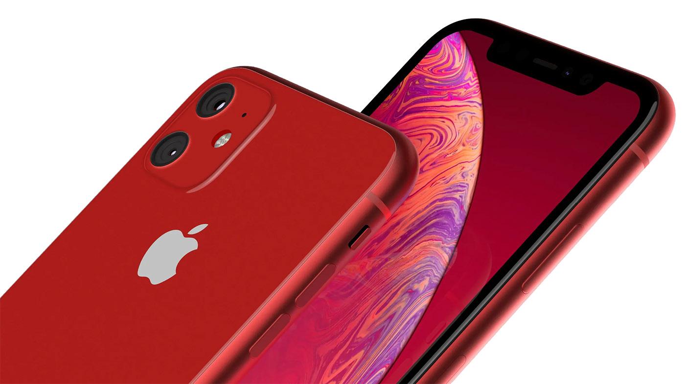 iPhone XR konseptbilder viser to-kamera design