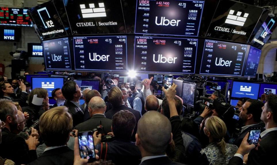 Dårlig start for Uber ved børslansering