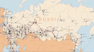 Russisk strømnett oversikt