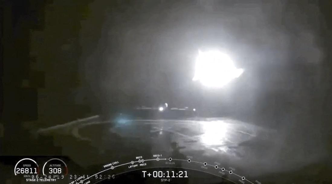 Falcon Heavy krasjlanding
