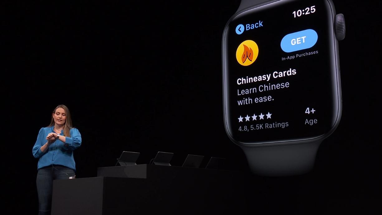 Apper kan nå lastes ned direkte til klokka fra den nye app-butikken i watchOS 6.