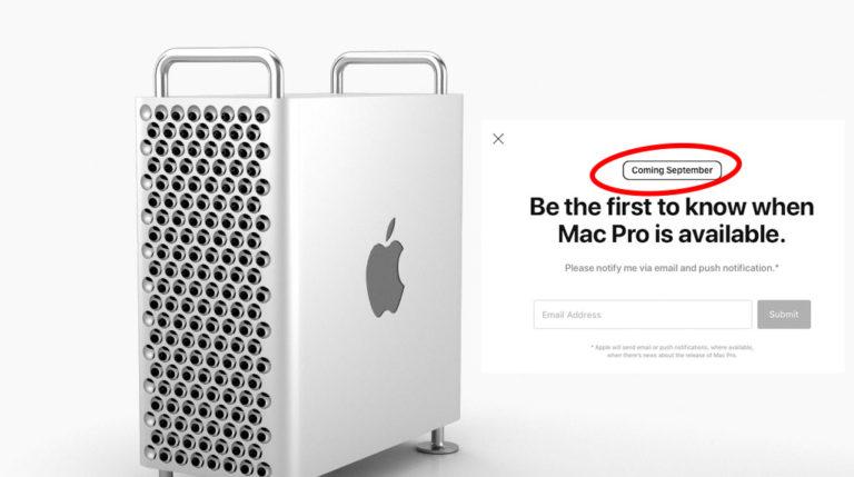 Mulig september-dato for Mac Pro og Pro Display XDR