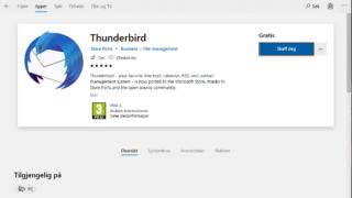 Mozilla sin Thunderbird er nå tilgjengelig på Microsoft Store