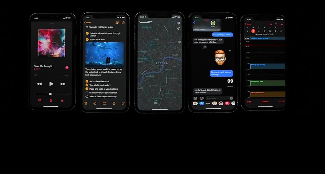 iOS 13 får nattmodus.