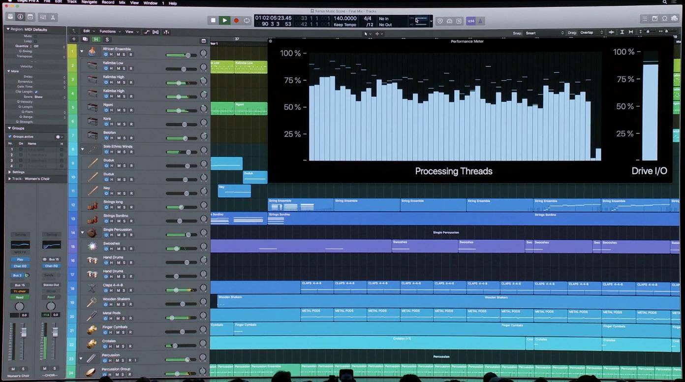 Logic X Pro på nye Mac Pro.