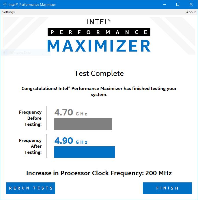 Intels overklokking resultat
