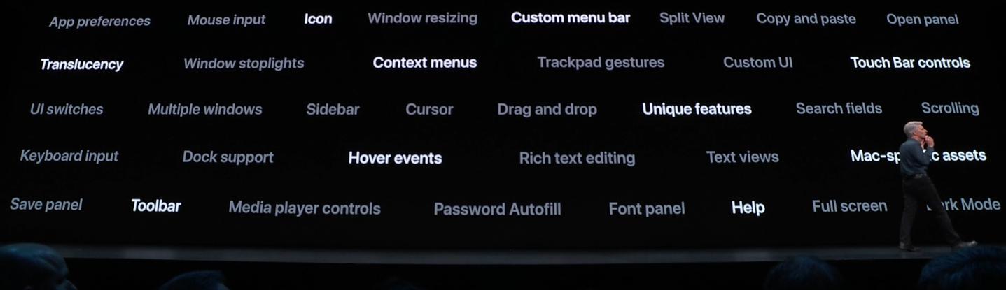 Nyheter i nye MacOS.