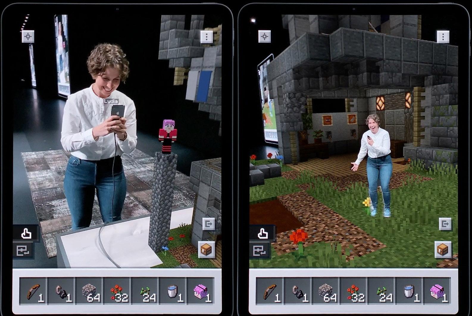 VIDEO: Slik vil Minecraft Earth se ut med ARKit 3