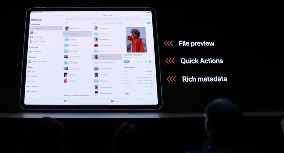 Mer filinfo i iPadOS.